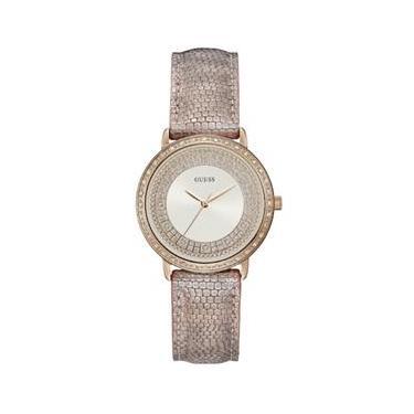 154f443c98e Relógio feminino guess pulseira de couro 92288LPGDRC8