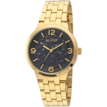50cd2307483 Lux GoldenComprar · Relogio Euro Feminino Analogico Irregular Eu2036lzg 4a  - Dourado