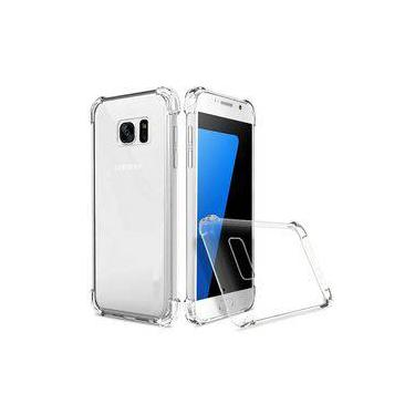 Kit 2 Em 1 Capa Anti Impacto Transparente Para Galaxy S7 Edge + Película De Gel