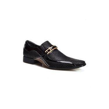 2da2039050 Sapato Social Masculino Estampado Calvest Couro Snake