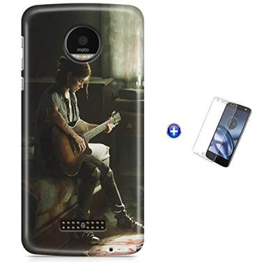 Kit Capa Case TPU Moto Z Play - The Last of Us 2 Ellie + Pel Vidro (BD30)
