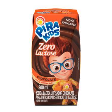 Bebida Láctea Pirakids Zero Lactose Sabor Chocolate Piracanjuba 200ml
