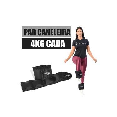 Imagem de Par Caneleira com Peso Tornozeleira Ginástica 4 Kg.