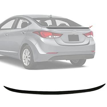 Imagem de OMAC Aerofólio traseiro de plástico ABS preto acessórios exteriores para porta-malas   Protetor de porta-malas de carro 122 cm   Serve para Hyundai Elantra Sedan 2011-2016