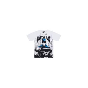 Camiseta Infantil Masculino Batman Com Máscara Branco - Marlan 6f8ed8933ea