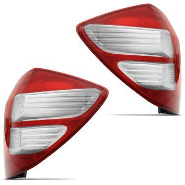 Lanterna Traseira Honda Fit 2009 2010 2011 2012 2013 2014 Bicolor Cristal Lado Esquerdo Motorista