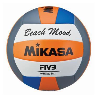 Bola de Vôlei de Praia Mikasa VXS-BMD - Cinza/Laranja/Azul/Branco