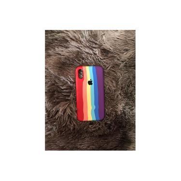 Capinha Case para iPhone X ou Xs - ARCO ÍRIS LGBT