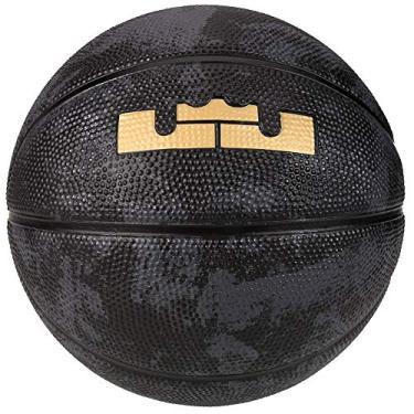 6b4b96c40 Bola de Basquete Nike Lebron Playground 4P Tamanho 7 - Preta com  Dourada-Preto