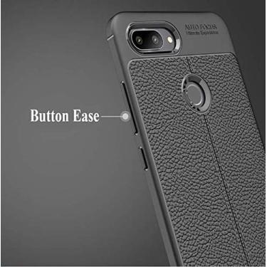 Capa Anti Impacto+ Película Full Glue 9d Xiaomi Mi 8 Lite (CAPA ANTI IMPACTO TIPO COURO PRETA+ PELÍCULA VIDRO FULL GLUE 9D PRETA)