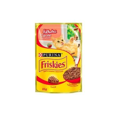 Sachê Para Gatos Filhotes Carne Ao Molho Friskies Alimento Úmido- Caixa 15 Unidades De 85g