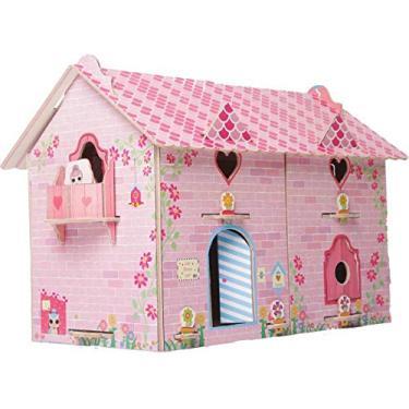 Imagem de Brinquedo para Montar Casa Divertida Doll Madeira, Brincadeira de Criança, 2390, Multicor