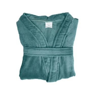 Imagem de Roupão De Inverno Atlântica - Kimono De Microfibra Cipreste Verde