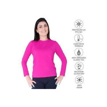 Camisa Proteção Solar Uv 50+ Térmica Praia Piscina Esportes Lazer Feminina