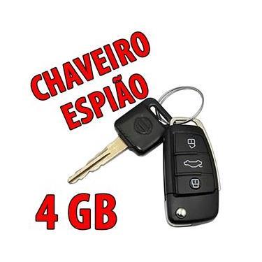 Imagem de Chaveiro Mini Câmera Espiã Para Fotos e Filmagens em Hd 4Gb