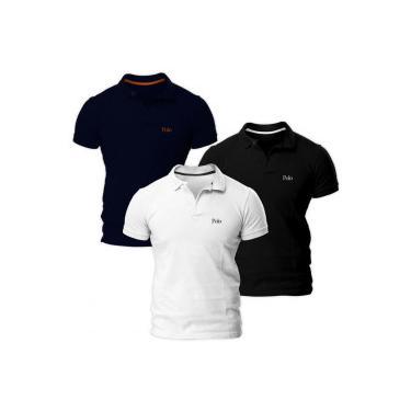 77f94ae5a5 Camisa Polo Polo Match Básica Piquet Slim - Masculina - 2 Unidades Polo  Match