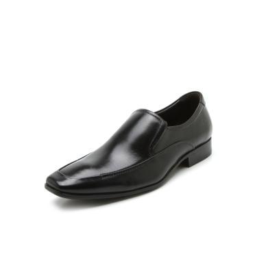 Sapato Social Couro Democrata Recortes Preto Democrata 450053-001 masculino