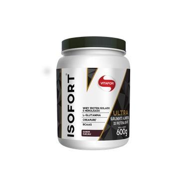 Isofort Ultra Suplemento Whey Protein Isolado, Hidrolisado | Creatina | BCAAs | L-Glutamina 600g Sabor Cacau Marca: Vitafor