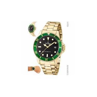 e844d5db0e3 Relógio analógico masculino champion dourado ca31266m