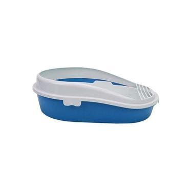 Banheira Sanitário Caixa de Areia p Gatos Furação Pet - Azul