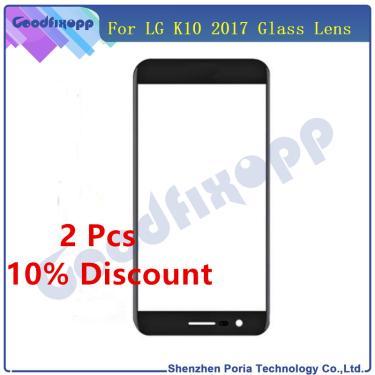 Display lcd frente tela de toque exterior lente vidro para lg k10 2017 x400 m250 m250n substituição