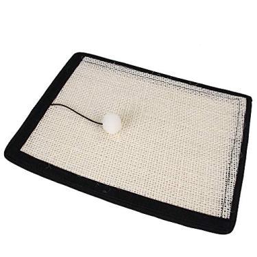Almofada arranhadora para gatos, protetor de sofá para gatos, tapete arranhador de gato de sisal natural, durável, lavável, protetor de sofá para gatos com uma linda bola
