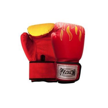 Par Luva Boxe Muay Thai Fogo Profissional Soco Bate Treino