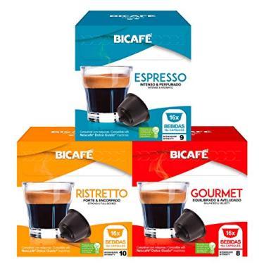 Imagem de 48 Cápsulas Para Dolce Gusto - 3 Caixas - Kit Café - Cápsula Bicafé