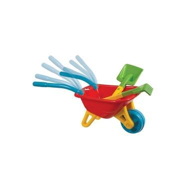 Imagem de Big Carriola Infantil Carrinho De Mão com Rastelo e Pá Vermelha Magic Toys