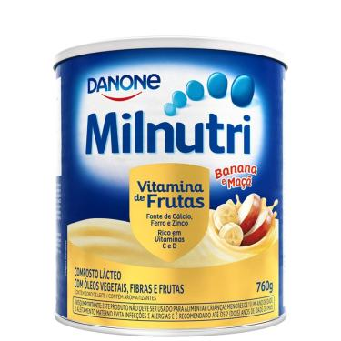 Composto Lácteo Danone Milnutri Sabor Vitamina de Frutas com 760g 760g