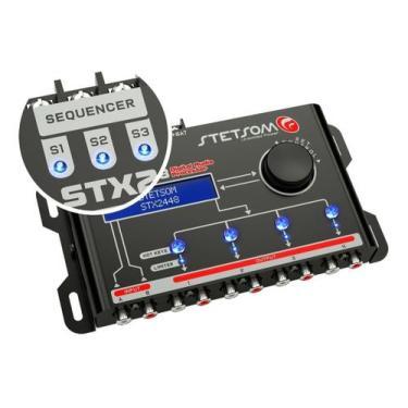 Processador Audio Automotivo Stetsom STX-2448 4 Canais Digital Crossov