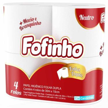 Papel Higiênico Fofinho 30m Folha Dupla 4 Rolos 1026712