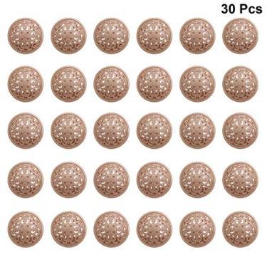 BESPORTBLE 30Pcs 20Mm Jaqueta de Botões De Metal Moda Rodada Botões Do Casaco Botões Planas Botões de Costura Artesanato DIY Acessório Dourado 2Cm
