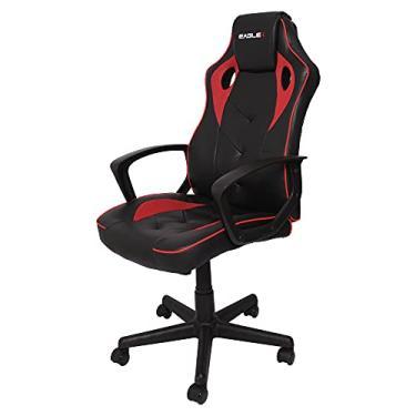 Cadeira Gamer Barata Vermelha Eaglex S1 120kg Com Ajuste de Altura e Modo Balanço