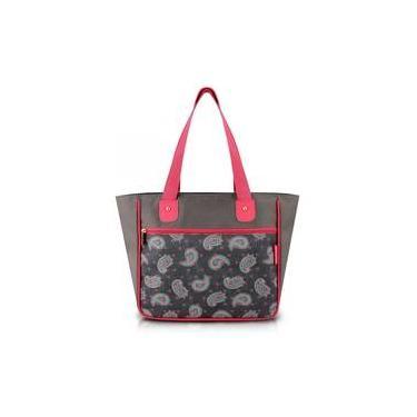 Bolsa Shopper Tam G Estampada Cinza Ameba Nylon Jacki Design