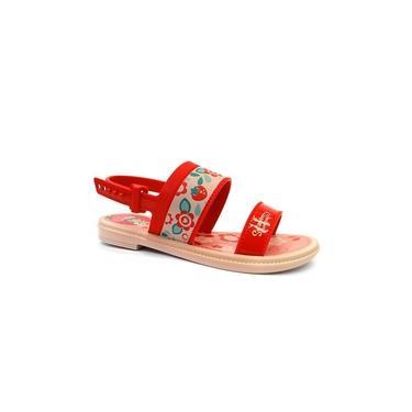Sandalia Moranguinho Sweets Baby 21840 - Grendene - Rosa/vermelho
