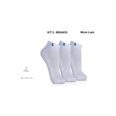 Kit Meia Lupo cod:3225 3 pares Masculino - Branco ou Preto