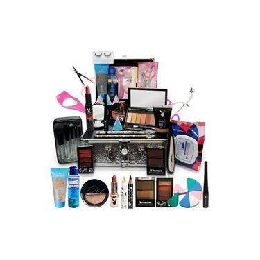 Kit Maquiagem Maleta Pincel Completo 22 Itens - Pele Negra