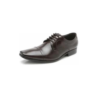 Sapatos Sociais Democrata Marrom Liso Cadarço 450052-002