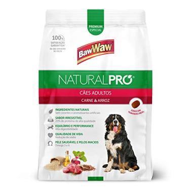 Ração Baw Waw Natural Pro para cães adultos sabor Carne e Arroz - 15kg