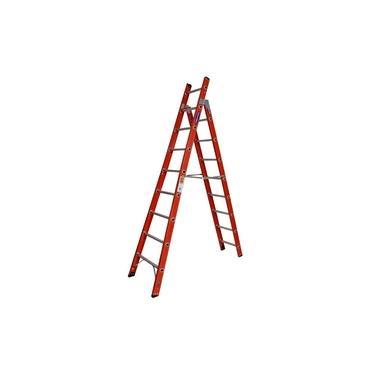 Escada Fibra de Vidro tipo Tesoura 16 Degraus 5,05 metros TSH-8-16 COGUMELO