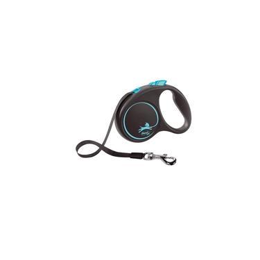 Guia Flexi Black Design Fita P 5m - Azul p/ cães