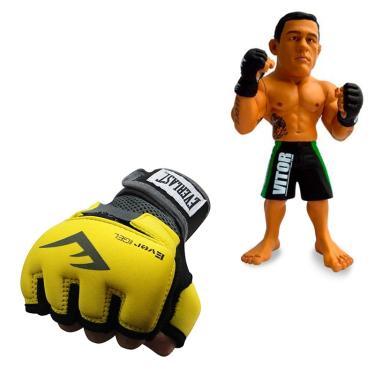 c7046fcfb Kit Luva Evergel Everlast Amarelo GG + Boneco UFC Vitor Belfort Bermuda  Verde
