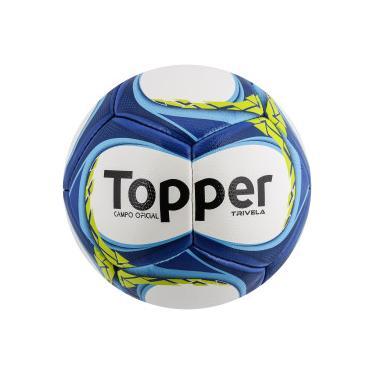 Bola de Futebol de Campo Topper Trivela V12 - BRANCO AZUL Topper 3b98ceb98e517