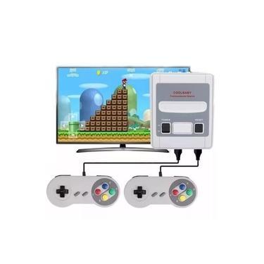 Video Game Retrô Super Nintendo com 2 controles
