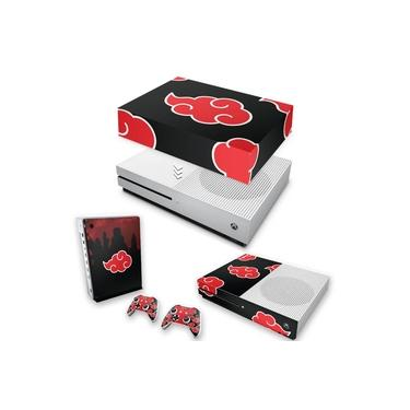 Capa Anti Poeira e Skin para Xbox One S Slim - Naruto Akatsuki