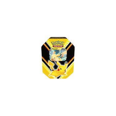 Imagem de Card Game Pokémon Lata Poderes V Pikachu Copag