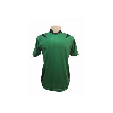Jogo de Camisa com 14 unidades modelo Palermo Verde/Preto +