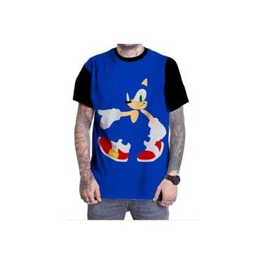 Camiseta Camisa Personalizada Jogo Sonic Clássico Antigo Ps