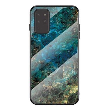 Hicaseer Capa para Galaxy Note 20, estampa de mármore, antiqueda, antichoque, antiarranhões, capa de TPU (poliuretano termoplástico), bela capa para Samsung Galaxy Note 20 de 6,5 polegadas, esmeralda